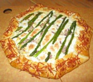 Asparagus Galette Raw