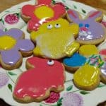Easter Cut Out Cookies with Icing
